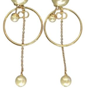 DIOR TRIBALES HOOP DROP EARRINGS